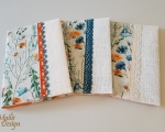 Book covers, linen, field flowers, H 21 x 15,5cm (A5)