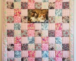 Kids quilt KITTY, cotton (135 x 105 cm)