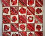 Patchwork Quilt RED (153x153cm)