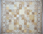 King Size Quilt Beige with roses (233x233cm)