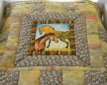 Kids quilt, bedcover with horses 85 x 150cm