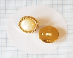 22mm Kuldne-valge pärlmutter kannaga polüesternööp