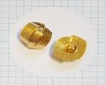 21mm Kuldne kannaga dekoratiivnööp