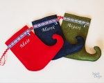 Christmas stocking, woollen felt
