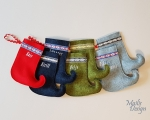 Personalized Christmas stocking, small (width 8 cm)