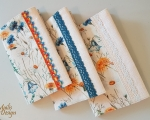 Book covers, linen, field flowers, H 21 x 13 cm