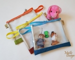 Clear bag for kids (22 x 19 cm)