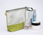 Bigger Clear zipper pouch with pearls (h 20 cm)