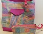 Weekender bag set, pink