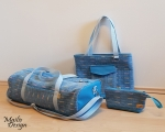Weekender Bag Set, blue