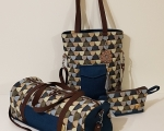Weekender Bag Set, Blue Green