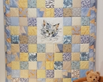 Kids quilt KITTEN, cotton (135 x 105 cm)