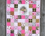 Kids quilt HEDGEHOG, cotton (125 x 95 cm)