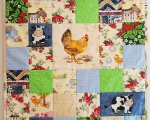 Baby quilt Farm animals (90 x 75 cm)