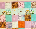 Kids quilt OWL, cotton (125 x 100 cm)