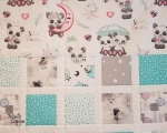 Kids quilt Panda, cotton (120 x 100 cm)