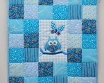 Baby Quilt with Owl (90 x 80 cm)