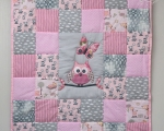 Baby Patchwork Quilt with Owl (90 x 80cm)