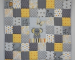 Toddlers Quilt, Grey and Yellow with Elephant (140 x 105 cm)
