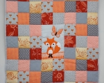 Toddler with FOX (140 x 105 cm), orange, gray and dark gray