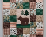 Baby Quilt with teddy Bear (90 x 80 cm)