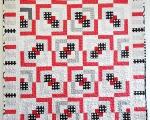 Lapitekk TÄPILINE (145 x 210 cm), punane-must-valge-hall