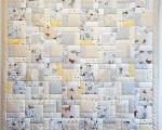 Full Size Patchwork Quilt (150 x 220 cm), beige-gray