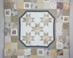 Full Size Quilt with Octagrams (230 x 175 cm)