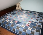 King Size Reversible Denim Quilt (200 x 225 cm)