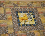 Kids quilt, bedcover with horses 85 x 160cm