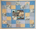 Baby quilt Cat on the roof (73 x 73 cm)