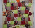 Tegelustekk Särtsakates värvides (130 x 130 cm)