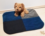 Dog bed, sleeping mat, S - 50x55cm, blue and gray