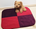Dog bed, sleeping mat, S - 50x55cm, pink