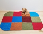 Dog bed, sleeping mat, XL - 70x110cm, colorful