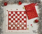 Checkerboard, Christmas red