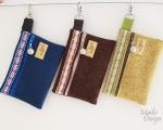 Mobiili kott väike, rahvusliku paelaga, vilt (13 x 9 cm)