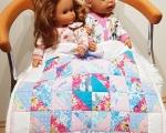 Doll blanket, patchwork quilt 47 x 47 cm