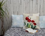 Decorative pillow Poppies