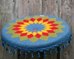 Mandala cushion, meditation pillow 50 cm